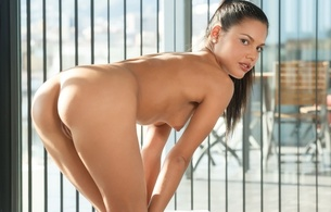 apolonia, brunette, sexy girl, adult model, nude, naked, sexy pose, ass, butt, buttocks, arse, bum, попка, и, ponytail, hot, ass wallpaper, apolonia lapiedra, sexy legs, perfect ass