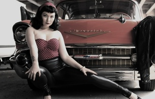 amateur, american, black, chevrolet, chevy, chubby, erotic, hi-q, high heels, leggings, legs, long hair, lycra, model, old car, pale skin, pin up, pin up style, polka dot, posing, sexy babe, sexy dressed, shiny, tight, top, violette