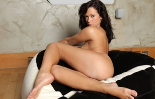 adult, adult model, boobs, breasts, brunette, erotic, hi-q, model, nipples, nude, pappa san chair, porn star, posing, sensual, sexy, sitting, sultry, tess, tess lyndon, tits
