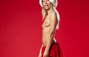 adult, adult model, blonde, boobs, breasts, erotic, evi, evi b, german, model, porn star, posing, santa hat, santa skirt, semi nude, sensual, sexy, smile, sultry, tits