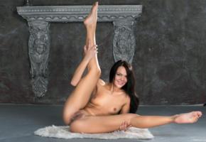 alexandra, brunette, legs, naked, pussy, rihanna, sasha l, sexy, spread eagle, tits