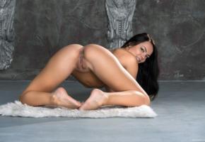 alexandra, ass, brunette, doggy, naked, pussy, rihanna, sasha l, sexy