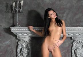 alexandra, brunette, naked, pussy, rihanna, sasha l, sexy, shaved pussy, skinny, small tits, tits