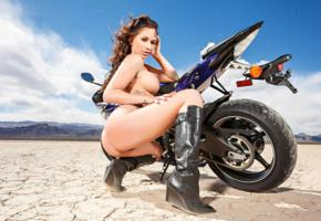 ass, big tits, brunette, desert, destiny dixon, motorcycles, naked, knee boots, hot, ass wallpaper
