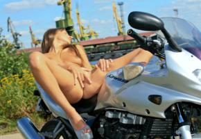 brunette, finger, kawasaki, maria, maria ryabushkina, masturbate, melena, motorcycle, naked, penetration, perfect tits, puffy nipples, shaved pussy, tara