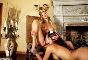 blonde, brunette, candle, chair, destiny dixon, devil, fireplace, halloween, heels, lesbians, maid, nude, pussy licking, samantha saint, wall, 2 babes, lesbian, girl girl pics, whore, eat pussy