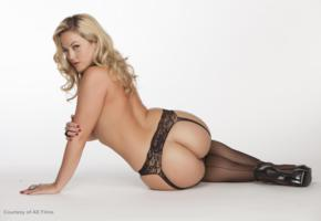 alexis texas, ass, blonde, garterbelt, lingerie, stockings, suspenders