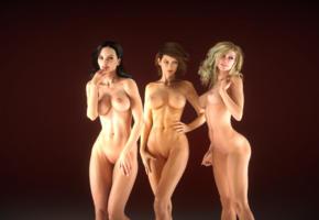 3d, naked, nude, sisters, quix, unar, tits, boobs, classic shape, big tits