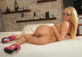 aleksa, aleksa diamond, aleska, aleska a, aleska d, aleska diamond, alexa, alexa diamond, alexia, ass, blonde, emese, glasses, hi-q, high heels, labia, naked, shaved pussy, tits