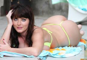 sophie dee, ass, outdoors, big tits, boobs, brunette, bikini, big butt, ass wallpaper