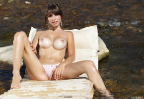 sexy, outdoors, big tits, boobs, brunette, hot, busty, erotic, panties, alexandra, wet, alexandra p, hi-q