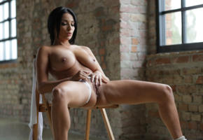 brunette, tits, natural, sexy, woman, adult, spreading pussy, anissa kate, hi-q