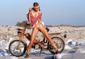 zoe andrea, pussy, dress, outdoor, bike, oiled, holly sampson