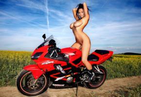 dominno, bike, outdoor, boobs, rebelde, domino, motorcycle