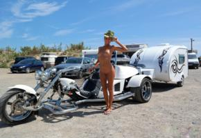 katya clover, clover, mango, blonde, naked, chopper, 3 wheeler, trailer, tits, shaved pussy, cowboy hat, tanned, hi-q, caramel, mango a