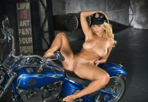 yaryna, big boobs, nude, hot, bike, naked, blonde, boobs, big tits, spreading legs, tits, pussy, shaved pussy, harley davidson, tanlines, motorcycle