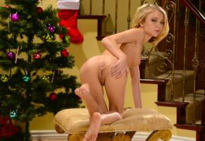 dakota skye, christmas, naked, petite, small tits, labia, ass, kota sky, christmas tree