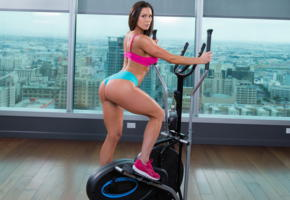 kendra lust, fitness, sport, ass, gym, brunette