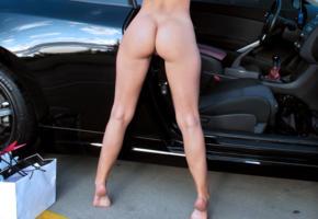 melisa mendiny, hot, naked, ass, butt, legs, model, nude, feet, car, parking lot