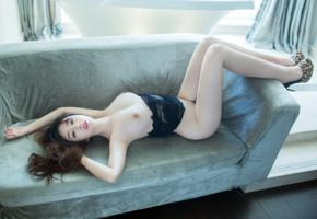 asian, model, sexy, beautiful, amazing, brunette, perfect, boobs, gorgeous, long hair, face, eyes, black lingerie, busty babe, shoes, tits, beauty, sexy legs, nipples, wang yu chun, wang yuchun, big tits, big breasts, hi-q