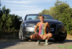 katya clover, mango, sexy, naked, caramel, clover, mango a, pussy, pee, peeing, piss, pissing, car, smile, squatting, nature calls
