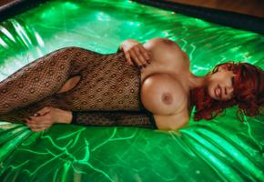 bianca beauchamp, model, redhead, amazing, big boobs, gorgeous, lingerie, busty babe, bodystocking, black lingerie, nipples, big breasts, big tits, sexy, beautiful, beauty, perfect, erotic, super boobs