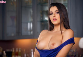 valentina nappi, brunette, long hair, topless, tits, nipples, belle, sexy