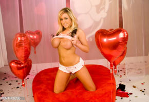 memphis monroe, porn star, valentine's day, boobs, big tits, valentines day, balloon, topless, tits out, large areola
