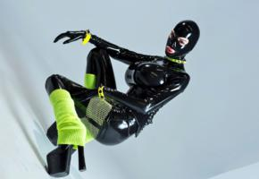 ariane saint, canadian, busty, tight clothes, latex, catsuit, fullsuit, hood, rubberdoll, plateau heels, shiny, rubber, fetish, ariane, fetish babe, ariane saint amour