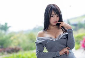 girl, asian, sweet, cute, sensual, brunette, sexy