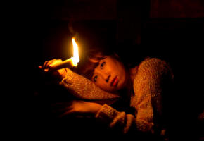 sakura ooba, candle, darkness, eyes, loneliness, heat, asian