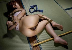karin ninomiya, kinbaku model, tied, submissive, bondage, bdsm, asian, pussy, ass, submissive girl, bound, rope, fetish babe, hot, clip