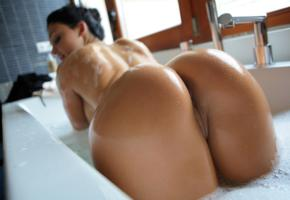 brunette, wet, bath, bubble, ass, pussy, widescreen cut, bathroom, bathtub, aletta ocean, arse, bum, rump, behind, aletta alien, alien, dora, meseda, suds, soapy, doggy, tits, labia, tanned, hot, ass wallpaper