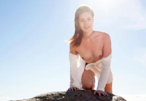 mina, metart, beach, cute, adorable, tits, boobs, nipples, medina, mina k, small tits