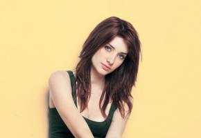 susan coffey, redhead, long hair, widescreen cut, minimalist wall