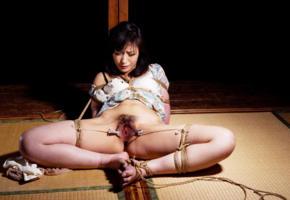 shizuka kanno, kinbaku model, tied, submissive, bondage, bdsm, asian, pussy, submissive girl, bound, rope, fetish babe, hot