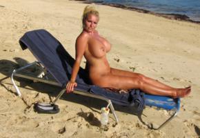 big tits, milf, blonde, slut, boobs, beach