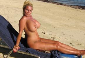 big tits, milf, blonde, slut, boobs, beach, sea