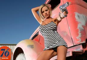 penny mathis, dress, gun, short hair, widescreen cut, jenny p, penny mathias, actiongirls