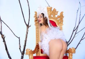dani daniels, sexy girl, adult model, hot, throne, ass, butt, dani d