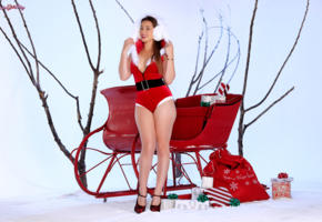 hot girl, sexy girl, santa baby, dani daniels, dani d, christmas, new year, smile