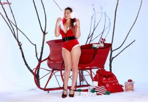 hot girl, sexy girl, santa baby, dani daniels, dani d, christmas, new year, smile
