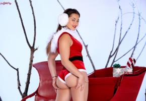 dani daniels, sexy girl, hot girl, santa baby, ass, butt, dani d, christmas, new year