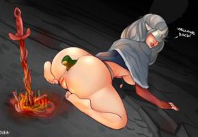 arteria, dark souls, fire, fantasy, insertion, sexy, masturbate, butt plug, big ass, ass, anal insertion
