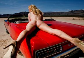 nude, blonde, ass, car, long legs, spreading legs, lexi belle