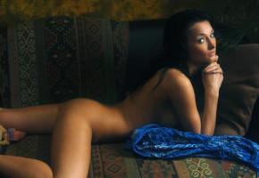 girl, brunette, hot, nude, eyes, ass, unknown, anna ap, anna veremchuk