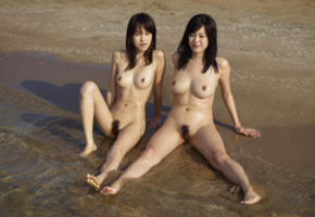 konata, lulu, japanese, asian, hi-q, sexy, beach, naturist, spreading legs, tits, pussy, sea, wet, boobs, nipples, naturists
