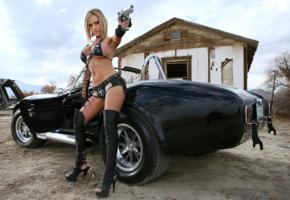 non nude, 427 cobra, ford, big tits, leather, boots, gun, jennifer perez, penny mathis, jenny, jenny p, penny mathias, high heels, actiongirls