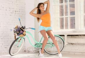 foxy salt, foxy, sexy girl, adult model, non nude, bicycle, cute, shorts, hi-q