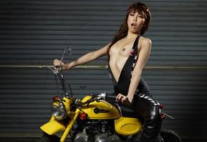 reina yuuki, reina, motorcycle, minimoto, small tits, tiny tits, skinny, delicious, sexy, asian, hi-q, tits